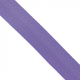 Polypropylene strap, herringbone 25 mm - mauve