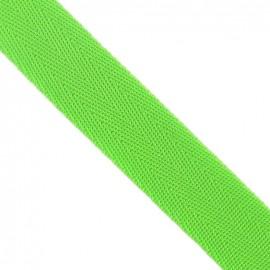 Polypropylene strap, herringbone 25 mm - lime