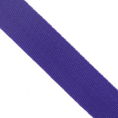 Polypropylene strap, herringbone 25 mm - purple