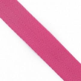 Polypropylene strap, herringbone 25 mm - fuchsia