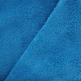Tissu Doudou uni turquoise x10cm