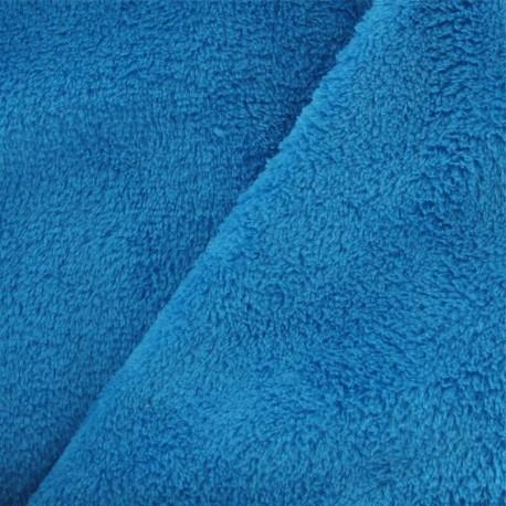 Tissu Doudou turquoise x10cm