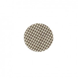 Covered button, Hound's tooth cloth - brown/beige