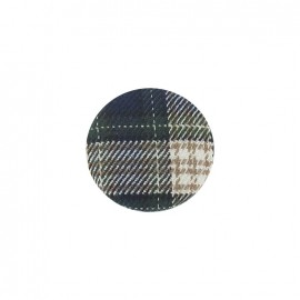 Covered button, Tartan - green