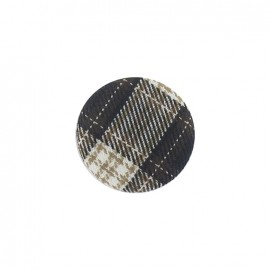 Covered button, Tartan - brown