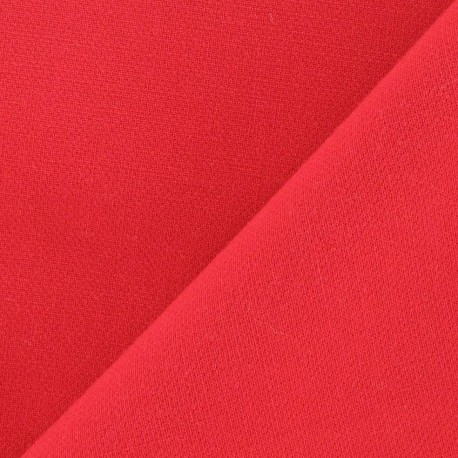 Heavy Viscose Fabric - Red x 10cm