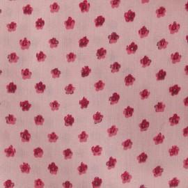 Printed Flower Poplin Fabric - Pink x 10cm