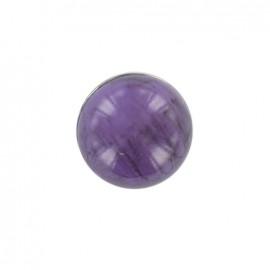 Bouton Boule effet marbré Violet