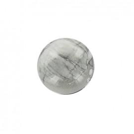 Bouton Boule effet marbré Gris/Argent