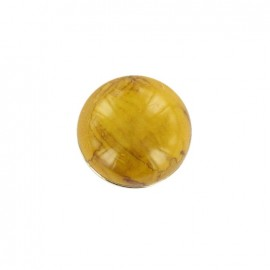 Marble effect ball button - yellow/golden