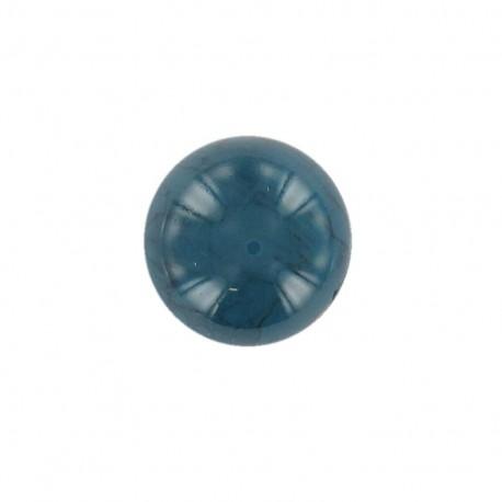 Bouton Boule effet marbre Bleu/Argent