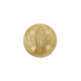 Bouton Boule effet marbre Beige/Argent