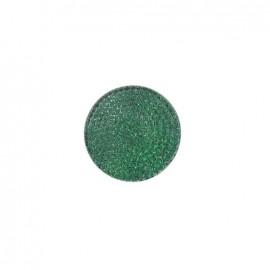 Bouton effet strass vert