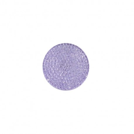 Bouton effet strass parme