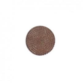 Bouton effet strass marron/bronze