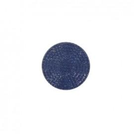 Bouton effet strass bleu marine