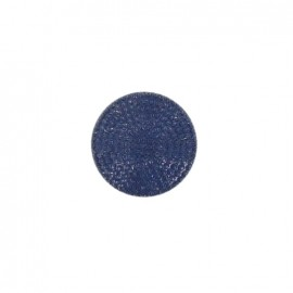 Button, rhinestones effect - navy blue