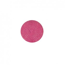 Bouton effet strass bleu rose