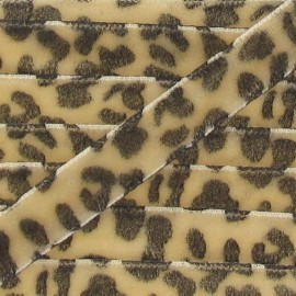 Ruban velours animal beige
