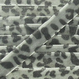 Velvet Ribbon, animal - Grey