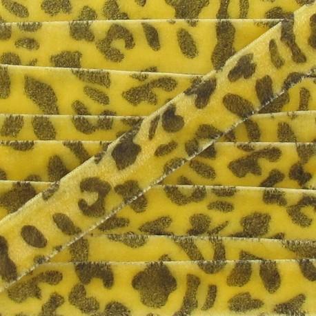 Ruban velours animal jaune