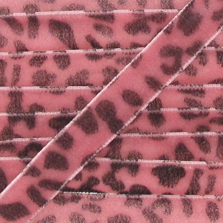 Velvet Ribbon, animal - Pink