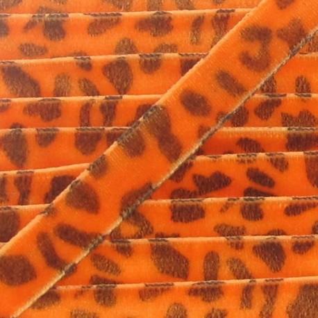 Ruban velours animal orange
