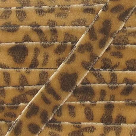 Velvet Ribbon, animal - Light Brown