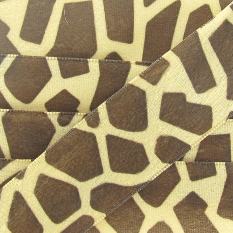 Ribbon Savanna, Printed Giraffe - Brown