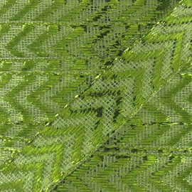 Ruban Chevron Lurex Vert