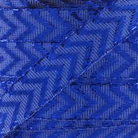 Ruban Chevron Lurex Bleu