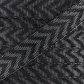 Ruban Chevron Lurex Gris/noir