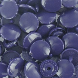 1 pack of 10 snap buttons rounded-shaped KAM – purple ink