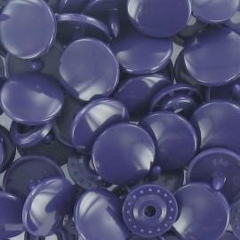 10 pressions rondes Kam résine encre violette