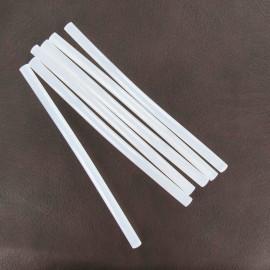 Pack of 6 refill sticks for glue gun - white