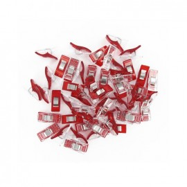 1 Set of 50 wonderclips Prodiges - red