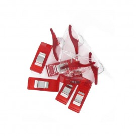 1 set of 10 wonder clips Prodiges - red