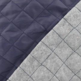 Quilted Lining Fabric - Navy x 10cm