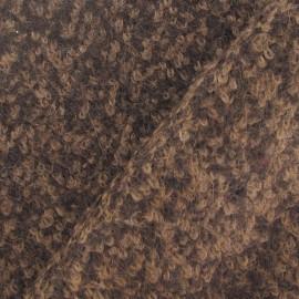 Tissu lainage Chocolat x10cm