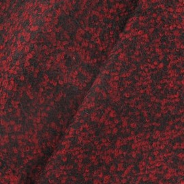 Checked wool fabric - Carmine x 10cm