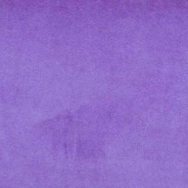Tissu Velours éponge jersey aubergine clair x 10cm