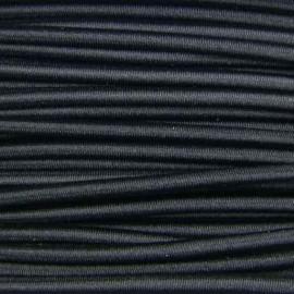 Fil élastique rond 3 mm noir