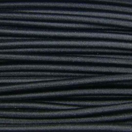 Rounded Elastic thread 3 mm - black