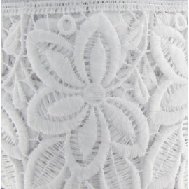 Polyester Guipure lace, Flowers 105 mm x 50cm - white