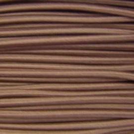 Fil élastique rond 3 mm marron