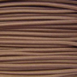 Rounded elastic thread 3 mm - brown