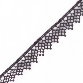 Guipure lace, Net Flowers 15 mm - purple