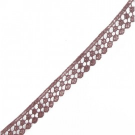 Guipure lace, Circles 15 mm - burgundy