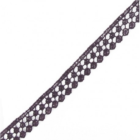 Guipure lace, Circles 15 mm - purple