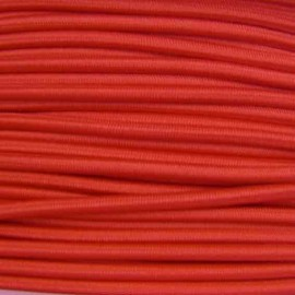Rounded elastic thread 3 mm - red